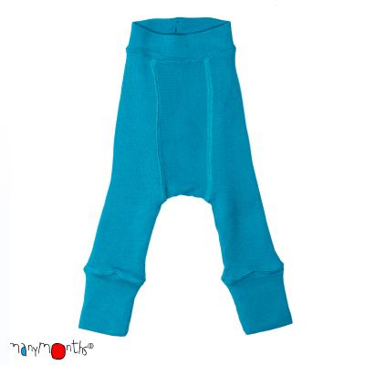ManyMonths wool longies - charmer - royal turquoise - 62-74 cm