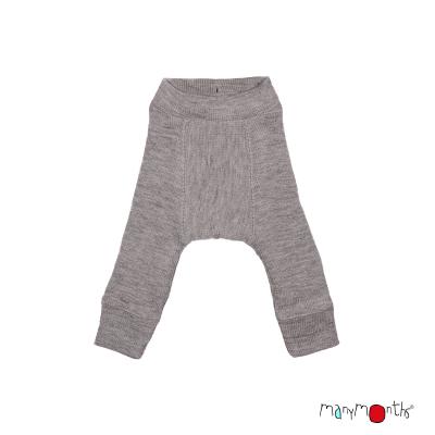 ManyMonths wool longies - explorer - silver grey - 68-86 cm