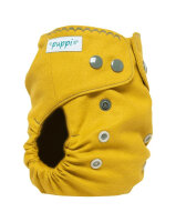 Puppi merino uld cover - mini onesize - trykknapper - curry