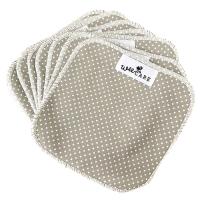 WeeCare - vaskeklude - dots - grey - 10 stk