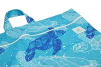 Blümchen - lang wetbag med lynlås og strop - turtle silhuet