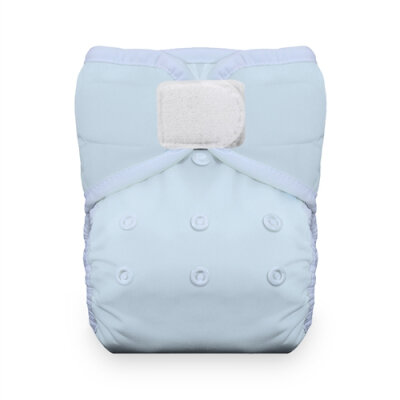 Thirsties natural lommeble - velcro - ice blue