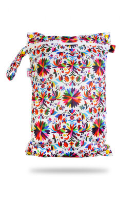 Petit Lulu wetbag med lynlås og strop - folklore