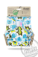 Petit Lulu - formsyet fluffy ONESIZE - velcro - little elephants