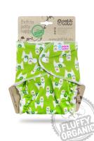 Petit Lulu - formsyet fluffy ONESIZE - trykknapper - alpacas