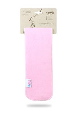 Petit Lulu - slange booster - pink - velour / bambus