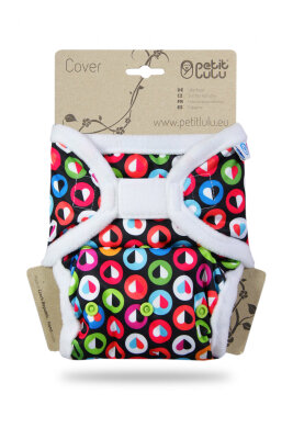 Petit Lulu onesize prefold cover - velcro - colorful hearts