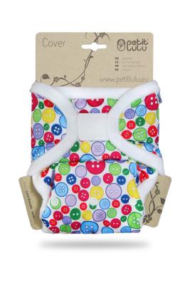 Petit Lulu onesize prefold cover - velcro - sewing buttons