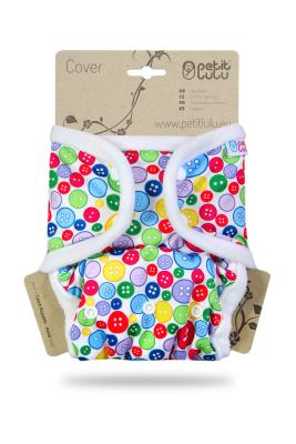 Petit Lulu onesize prefold cover - trykknapper - sewing buttons