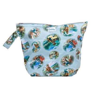 GroVia - wetbag til tur med lynlås og strop - bear in mind
