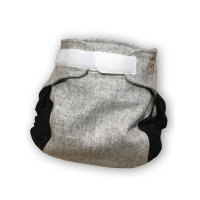 Hu Da faconsyede blebukser i kogt uld - grey