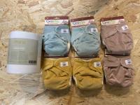 GroVia Buttah - nyfødt pakke - 6 bleskift