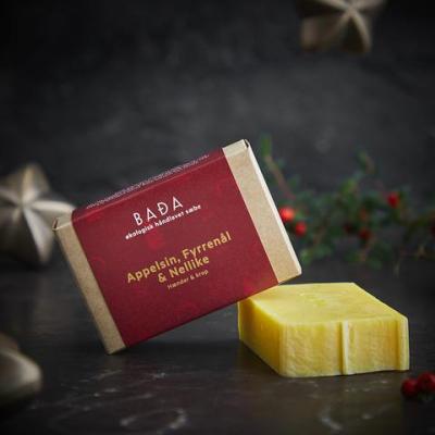 BADA - økologisk jule sæbe - appelsin, fyrrenål og nellike