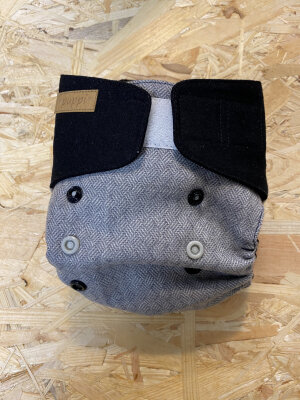 Puppi merino uld cover - mini onesize - velcro - nightfall