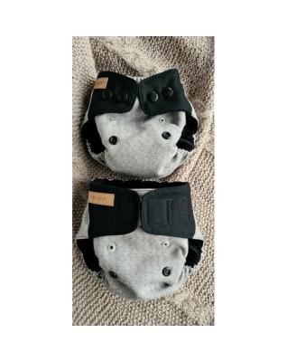 ID: 2109203, Puppi merino uld cover - mini onesize - trykknapper - nightfall
