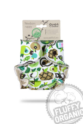 Petit Lulu - fluffy - newborn - apples (green)