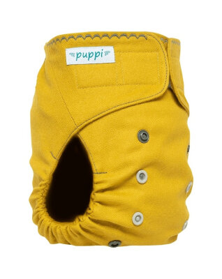 Puppi merino uld cover - onesize - velcro - curry