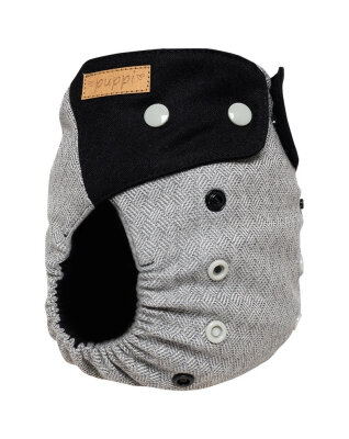 Puppi merino uld cover - onesize PLUS SIO - trykknapper - nightfall