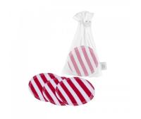 Ella's House - økologiske rensepads med hamp - 10 stk - red stripes