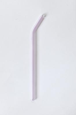 Concept Zero - glassugerør med knæk - 1 stk - rosa