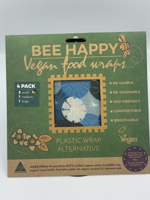 Bee Wrappy - 4 stk i 3 størrelser - vegansk