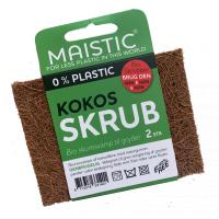 Maistic plastfri kokos skuresvamp 2 stk