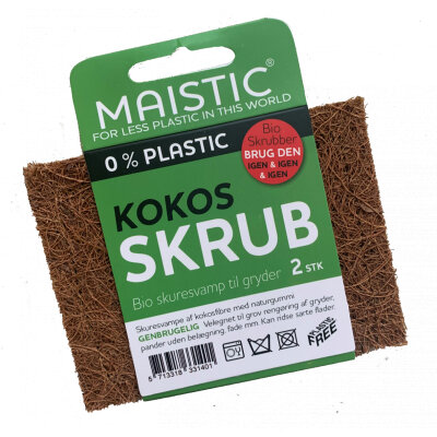 Maistic plastfri kokos skuresvamp