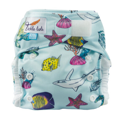 Tickle tots - AIO med lomme - onesize - ocean