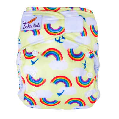 Tickle tots - AIO med lomme - onesize - rainbows