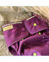 Puppi merino uld cover - onesize PLUS - trykknapper - forest flower