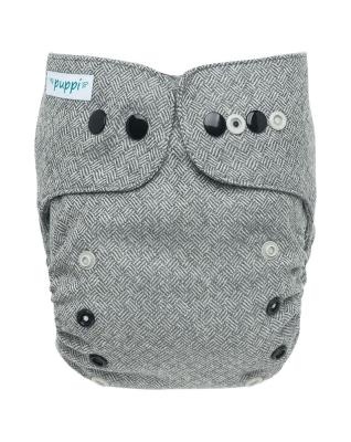 Puppi merino uld cover - mini onesize - trykknapper - timeless elegance
