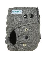Puppi merino uld cover - onesize - trykknapper - timeless elegance