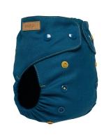 Puppi merino uld cover - onesize - trykknapper - royal blue