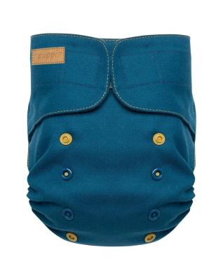 Puppi merino uld cover - onesize - velcro - royal blue
