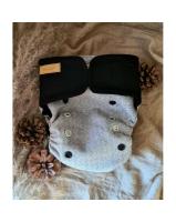 Puppi merino uld cover - onesize - velcro - nightfall