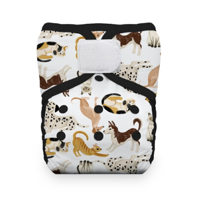 Thirsties natural lommeble - velcro - pawsitive pals