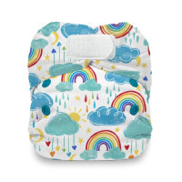 Thirsties AIO natural newborn velcro - rainbow