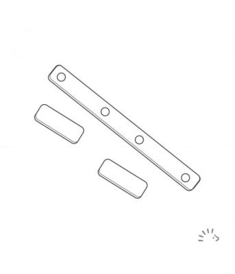 Konverter knapper til velcro - 1 sæt