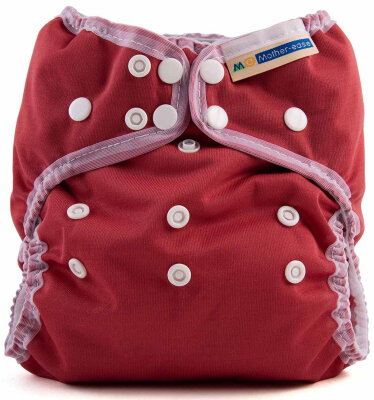 Mother ease - wizard uno organic - AIO onesize - cranberry