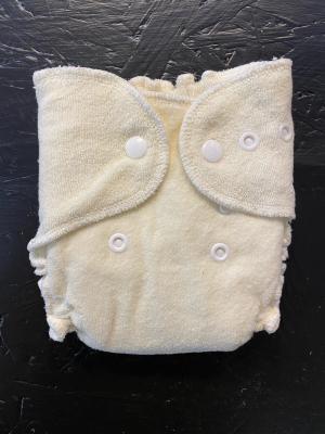 Babykicks organic fitted lommeble newborn - hamp / bomuld