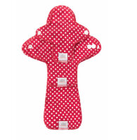 Ella's House stofbind - økologisk bomuldsjersey - prøvepakke - dots red