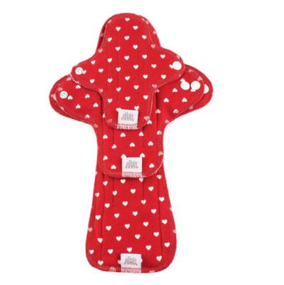 Ella's House stofbind - økologisk bomuldsjersey - prøvepakke - red hearts