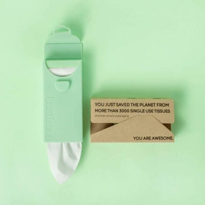 LastTissue genanvendelige lommetørklæder - palm green