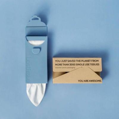 LastTissue genanvendelige lommetørklæder - racoon blue
