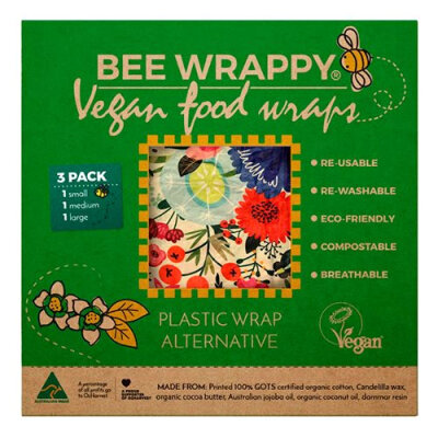 Bee Happy Wrap - 3 stk i 3 størrelser - vegansk