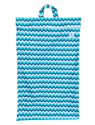 Blümchen - lang wetbag med lynlås og strop - wave