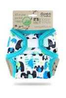 Petit Lulu - AIO lommeble - velcro - baby elephant (blue)