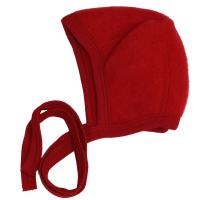 Engel babyhjelm - økologisk uldfleece - rød