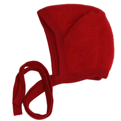 Klassisk babyhjelm - økologisk uldfleece - Rød