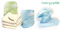 Nyfødt stofblepakke - 20 bleskift